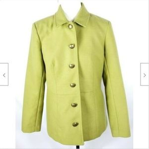 Coldwater Creek Peacoat 10 Green Lined Stretch